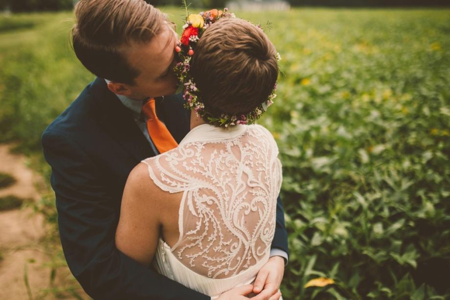 Virginia Wedding Florist Amanda Burnette Richmond VA Florist Fall Wedding Flower Two Spoons Photography Colorful Wedding Flower Crown BHLDN Dress Dog_0002.jpg